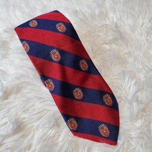 BROOKS BROTHERS UNIVERSITY Crest Pattern Tie